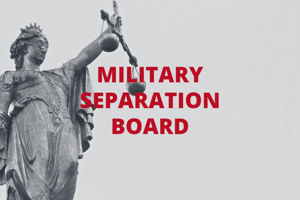 What to Expect When Facing an Administrative Separation Board